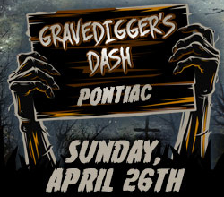 ** The 4/26  Grave Digger's Dash w/ Erebus is Rescheduled till Fall. Date TBA Soon! ** Grave Digger's Dash