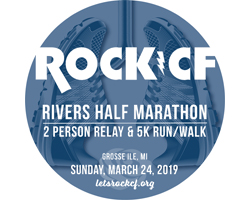 9th Annual Rock CF Rivers Half Marathon, 2 Person Relay & 5K Run/Walk